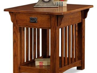 Solid Oak Mission Sienna Drawer End Table  Retail 238 99
