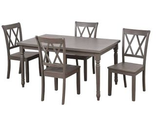 Simple living Evanston dining chairs only set of 2 rustic grey