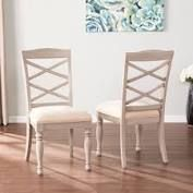 The Gray Barn Brandison Traditional Gray Wood Dining chairs only set of 2