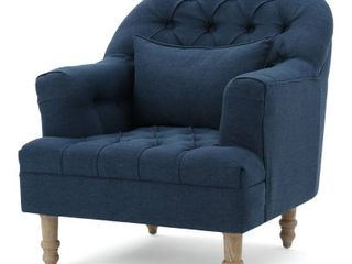 Anastasia Tufted Chair by Christopher Knight Home  Retail 408 49 blue