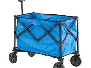 Sunjoy Odell Collapsible Blue Folding Wagon Cart with Wheels  Retail 94 99