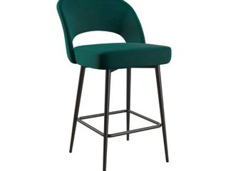 Cosmoliving Alexi Upholstered Counter Stool  Retail 113 99 green 1only