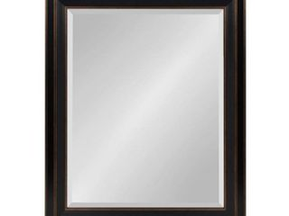 Whitley Classic Framed Beveled Wall Mirror  Retail 89 99 bronze