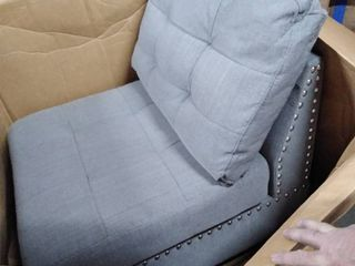 open side gray studded chair fabric 1only