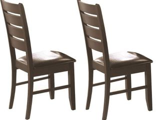 Coaster Newport Side Chair  set of 2 dining brown