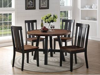 Distress Wood Brown Finish Round Dining Table only