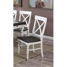 The Gray Barn Crooked Cottage X back Dining Chair  Set of 2  Retail 281 49