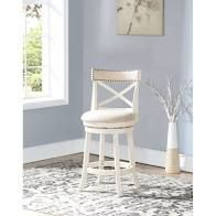 York Antique White 24 inch Counter Stool with Fabric Seat  Retail 133 49 1only