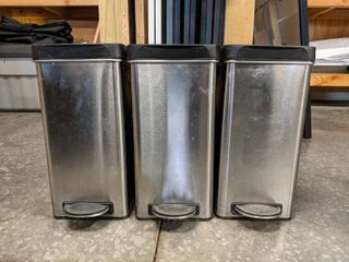 3  Simple Human Trash Cans