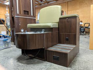 Belvedere Pedicure Chair And step Up Organizer