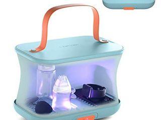 4 in 1 UV light Sanitizer Bag  Foldable UV C Cleaner Disinfection Dryer  lofter Double Sterilization High Capacity light Box  Detachable Travel UV light Wand   Storage Box for Phone  Baby Bottle