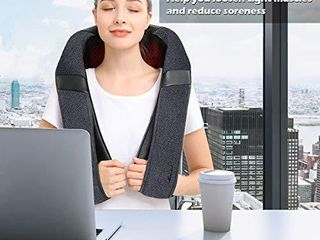 Back Massager  Shiatsu Back Neck Massager with Heat  Electric Shoulder Massager  Kneading Massage Pillow for Neck  Back  Shoulder  Foot  leg  Muscle Pain Relief  Home Office Car Use   Christmas Gifts