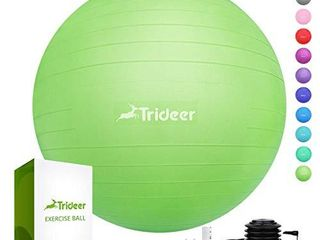 Trideer Exercise Ball  45 85cm  Extra Thick Yoga Ball Chair  Anti Burst Heavy Duty Stability Ball Supports 2200lbs  Birthing Ball with Quick Pump  Office   Home   Gym
