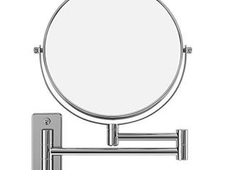 SONGMICS 7x Magnifying Wall Mount Makeup Mirror 8 Inch Two Sided Extendable Bathroom Vanity Mirror Chrome UBBM713