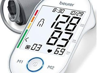 Beurer BM55 Upper Arm Blood Pressure Monitor  large Cuff   Automatic   Digital  2 Users  Xl Display  Irreg  Heartbeat Detector  Cuff Circ  8 7 16 5 Home Use BP Machine Kit   Patented Technology