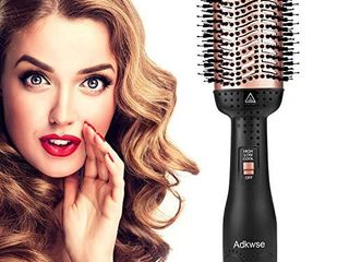 Adkwse Hair Dryer Brush  Hot Air Brush  Hair Dryer and Volumizer Blow Brush  4 in 1 Upgrade Hair Brush Dryer Styler Hair Brush Blow Dryer with Negative Ion and Ceramic Coating