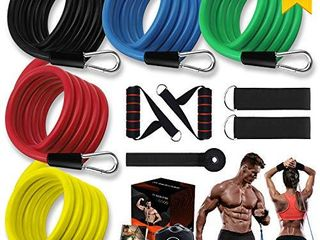 Resistance Bands Set Workout Bands for Men   Women Stackable Up to 150 lbs Home Gym Equipment Dumbbell Set Partner  Perfect for Resistance Training  Physical Therapy  Home Workouts