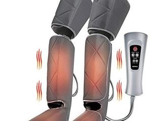Renpho leg Massager with Heat  Compression Calf Thigh Foot Massage  Adjustable Wraps Design for Most Size  with 3 Modes 3 Intensities  Gift for Mom Dad to Relax leg Muscle