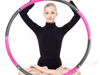 Hula Hoop for Kids and Adults   Fitness Weighted Hula Hoop for Exercise  Soft Padding Hoola Hoop Adjustable Size with 8 Detachable Sections  Play  loose Weight and Burn Fat  Pink   Gray