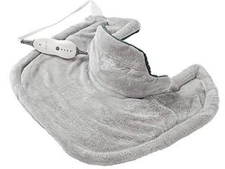 Sunbeam Heating Pad for Neck   Shoulder Pain Relief   Standard Size Renue  4 Heat Settings with Auto Off   Grey  22 Inch x 19 Inch