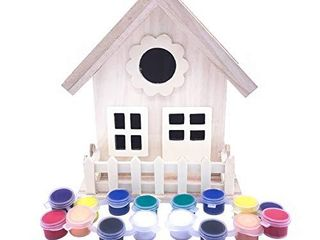 AROMA TREES Complete Birdhouse Crafting Painting Kit for Kids