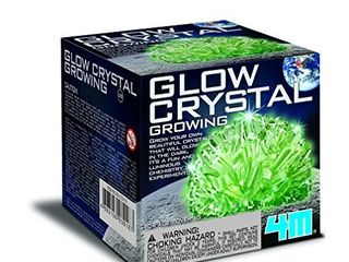 4M Glow Crystal Growing Kit   Grow a DIY Crystal Experiment Specimen  A Great Educational STEM Toys Crystal Making Gift for Kids   Teens  Boys   Girls