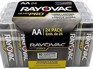 Rayovac Batteries AlAA 24F Ultra Pro AA Alkaline Batteries  AA  Pack of 24