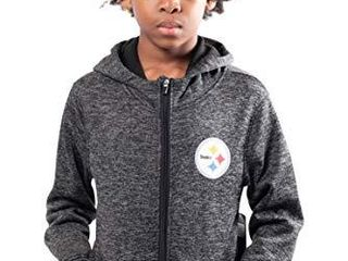 NFl Ultra Game Pittsburgh Steelers Extra Soft Fleece Pullover Hoodie Sweatshirt  large  Black