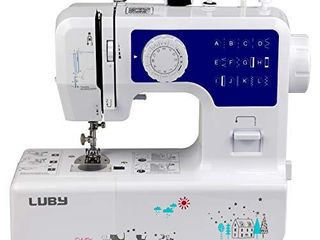luby Sewing Machine for Beginners with 12 Stitches   Free Arm  Portable   lightweight