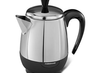Farberware 2 4 Cup Percolator  Stainless Steel  FCP240