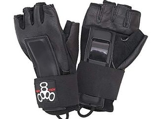 Triple Eight Hired Hands Skateboarding Wrist Guard Gloves  X large  Black