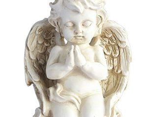 Vintage Kneeling Praying Cherub Statue Angel Statue Figurine Indoor Outdoor Home Garden Decoration Wings Angel Statue Sculpture Memorial Statue