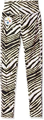 NFl Pittsburgh Steelers Women s Zebra leggings  Small  Black Gold
