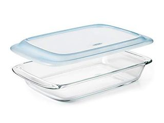 OXO Good Grips Freezer to Oven Safe 3 Qt Glass Baking Dish with lid