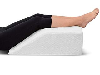 leg Elevation Pillow   with Memory Foam Top  High Density leg Rest Elevating Foam Wedge  Relieves leg Pain  Hip and Knee Pain  Improves Blood Circulation  Reduces Swelling   Breathable  Washable Cover