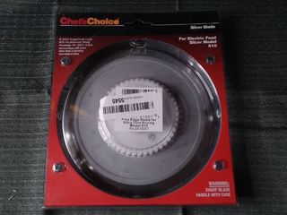 Chef s Choice Non serrated Blade for Model 609 610  615 Food Slicer