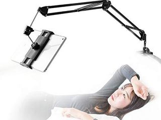 Tablet Stand for Bed 360 Degree Rotating Bed Tablet Mount Holder Stand with Aluminum Arm for iPad iPhoneXS N Switch  Amazon Kindle Fire or Other 4 11 inch Devices