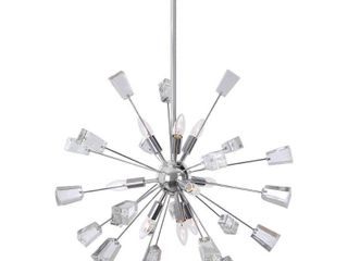Home Decorators Collection Kimberly 9 light Crystal and Chrome Sputnik Chandelier