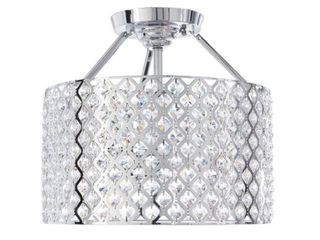 Home Decorators Collection Kimberly 3 light Crystal and Chrome Semi Flushmount