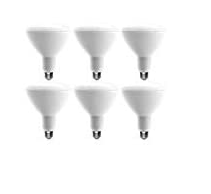 EcoSmart 75 Watt Equivalent BR40 Dimmable Bulb Daylight  6 Pack