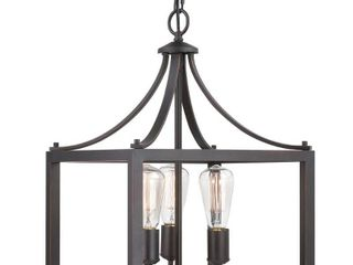 Home Decorators Collection Boswell Quarter 3 light Distressed Black Pendant