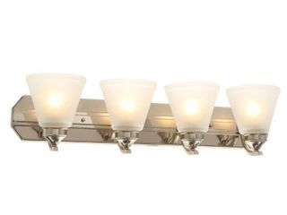 Hampton Bay 4 light Brushed Nickel Bath light  261568