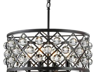 Home Decorators Collection Pennington Crest 4 light Antique Bronze Pendant with Solid Crystal Spheres