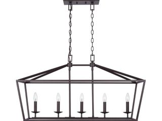 Home Decorators Collection Weyburn 5 light Bronze Caged Island Chandelier