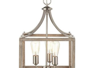 Home Decorators Boswell Quarter 14  3 light Brushed Nickel Chandelier 1002427108