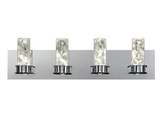 Home Decorators Collection Cusseta 30 Watt Crystal Integrated lED 4 light Vanity light