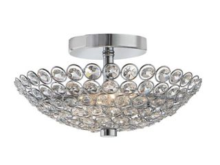 Home Decorators Collection Barclay 2 light Chrome and Crystal Flush Mount