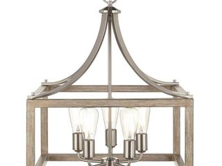 Home Decorators Collection Boswell Quarter 5 light Brushed Nickel Chandelier