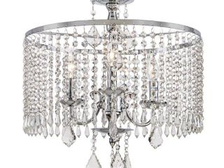 Home Decorators Collection Calisitti 3 light Polished Chrome Chandelier with K9 Crystal Dangles