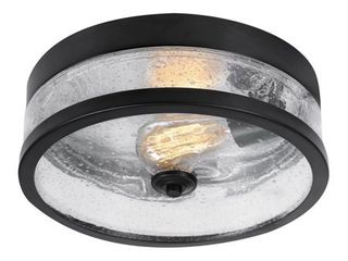 Globe Electric Carolina 1 light Dark Bronze Flush Mount Ceiling light  69999
